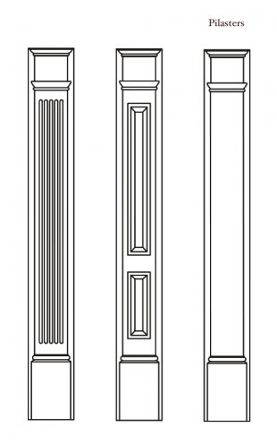 Architectural urethane polyurethane door surrounds designs for Exterior door pediment and pilasters