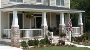 Contemporary  Craftsman  and Custom Designed Porch ColumnsPorch Columns   Fiberglass Porch Columns   Porch Column   Melton  . Front Porch Columns Images. Home Design Ideas