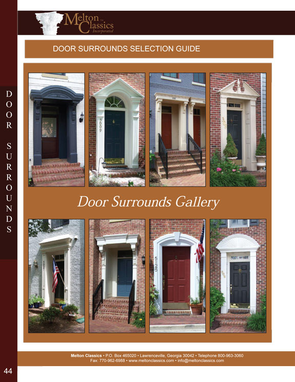 Architectural Urethane Door Surrounds Designs