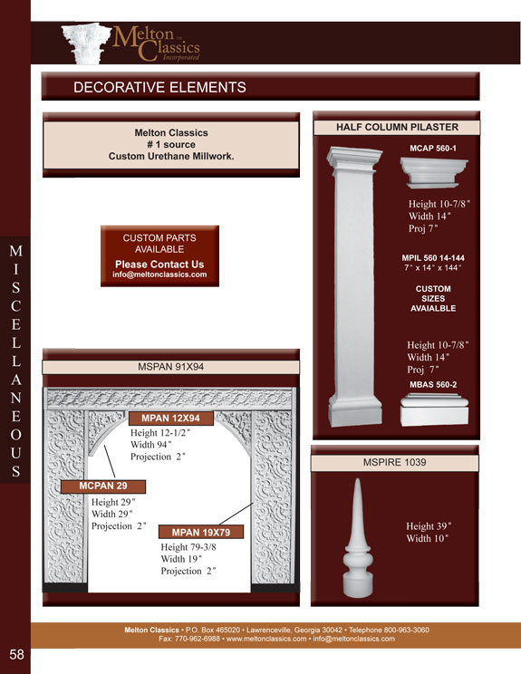 Architectural Millwork Details and Features