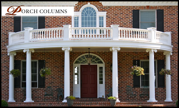 Porch columns fiberglass porch columns porch column for House plans with columns and porches