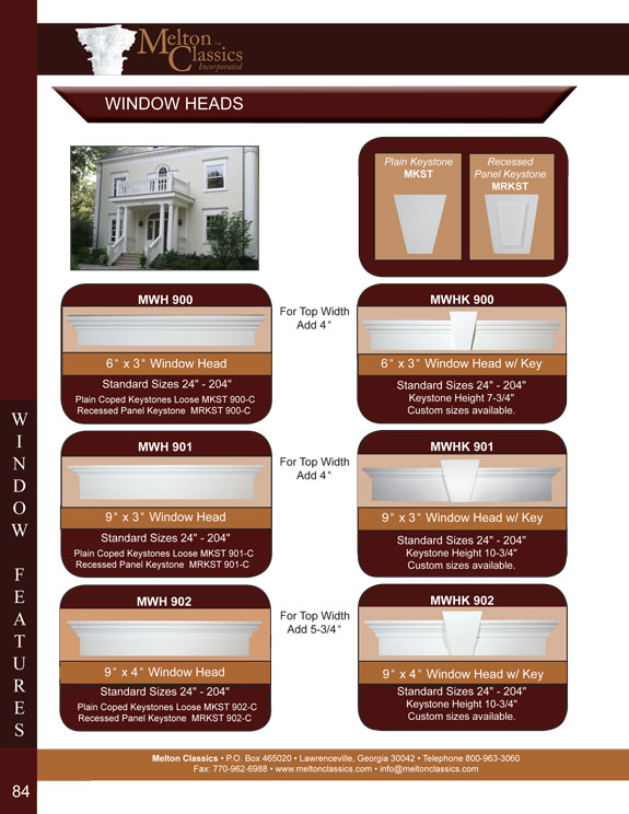 Polyurethane Window Feature Designs